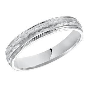 Men's 4MM Comfort Fit Tumbled Rock Finish Band