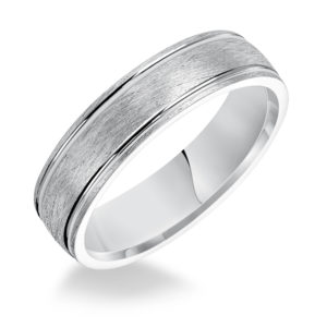 6MM Men's Comfort Fit Wire Finish Band