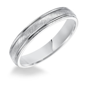 4MM Men's Comfort Fit Satin Finish Band