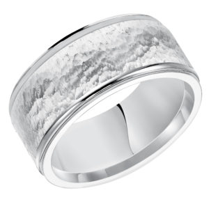Men's 10MM Comfort Fit Tumbled Rock Finish