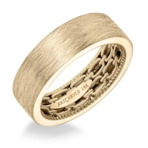 ArtCarved: 7mm Flat Profile Wire Finish Band