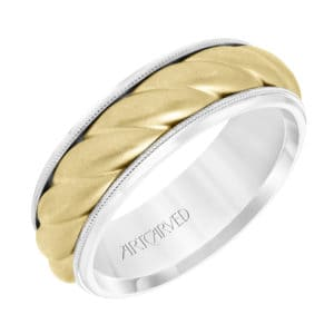 Men's Wedding Band with Soft Sand Finish