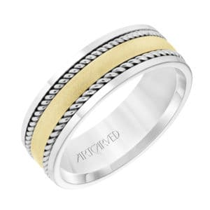 Men's Wedding Band with Satin Finish