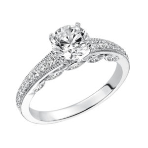 Classic Engagement Ring With Milgrain Details