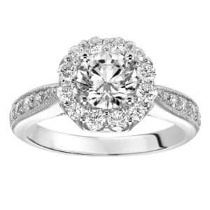 Petite Diamond Crown Engagement Ring