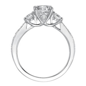 3-Stone Diamond Engagement Ring and Matching Band