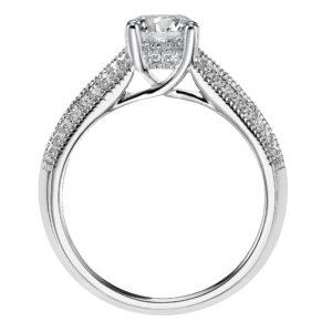 Engagement Ring with Diamond Prong Set Split Band