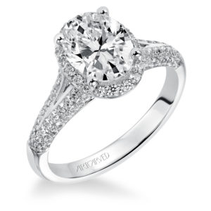 """Ariel"" Oval Halo Diamond Engagement Ring"