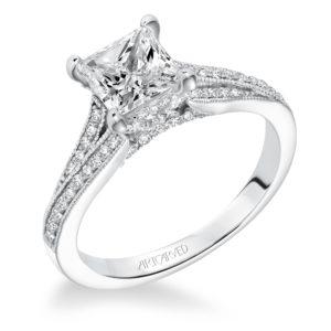 """Kayee"" Milgrain Diamond Engagement Ring"