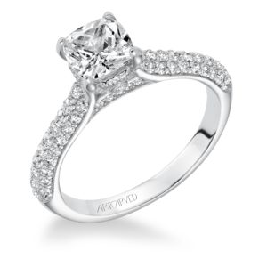 """Blair"" Pave Diamond Engagement Ring"
