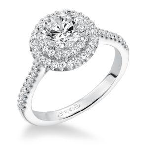 """""""Malinda"""" Double Halo Engagement Ring"""