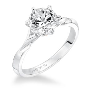 """Rory"" Solitaire Knife Edge Engagement Ring"