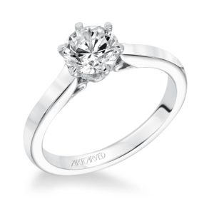 """Chivon"" White Gold Solitaire Engagement Ring"