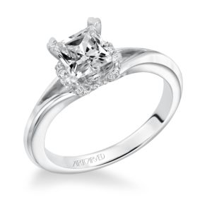 """Sienna"" Engagement Ring with Diamond Accent Crown"