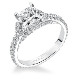 """Polly"" Diamond Engagement Ring with Cluster Accents"