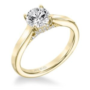 Classic Diamond Solitaire With Surprise Diamonds Engagement Ring
