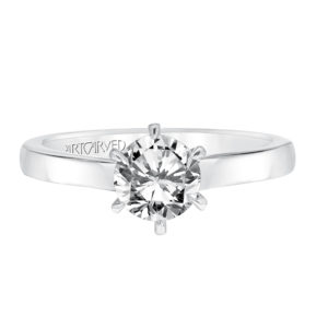 """Jesse"" Diamond Solitaire With Surprise Diamonds Engagement Ring"