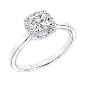 """Summer"" Diamond Halo Engagement Ring"