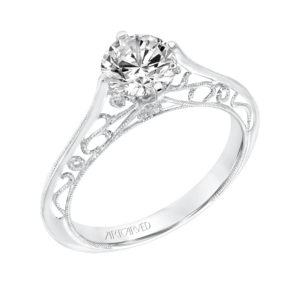 Vintage Solitaire Engagement Ring and Matching Band