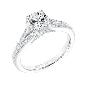 """Rosalind"" Diamond Split Shank Engagement Ring"