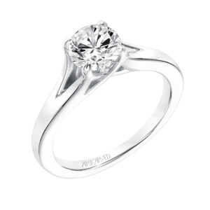 """Kathleen"" Diamond Solitaire Engagement Ring with Split Shank"
