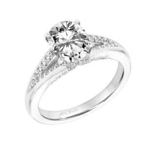 """Amity"" Diamond Prong Set Engagement Ring"