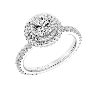 """Kaydence"" Double Rope Halo Engagement Ring"