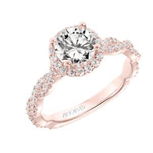 """""""Gianna"""" Diamond Halo Engagement Ring"""