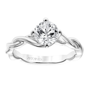 """Kassidy"" Diamond Engagement Ring with East-West Prongs"