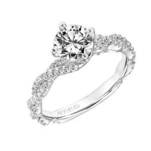 """Becca""  Twisted Diamond Engagement Ring"