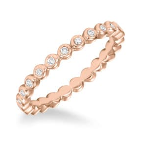 Stackable Bezel Set Diamond Eternity Band