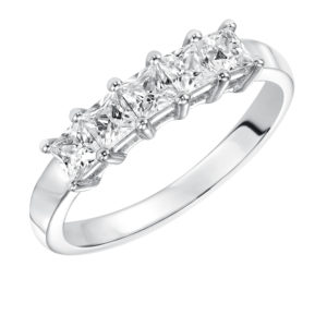 1.0 ctw Princess Cut Diamond Band