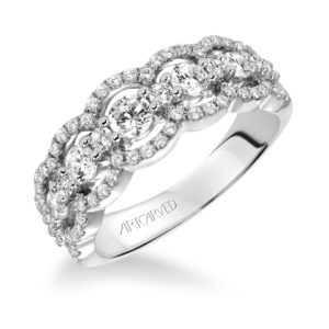 Contemporary Diamond Fashion Anniversary Band