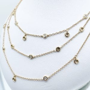 14k Layered Diamond Necklace