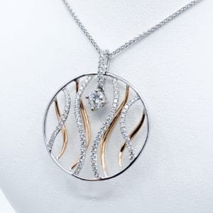 Geometric Diamond Pendant 0.70 cts