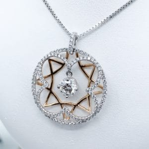 Geometric Diamond Pendant 1.61 cts