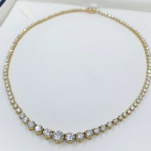 Estate Riviera 12.21 ct Diamond Necklace