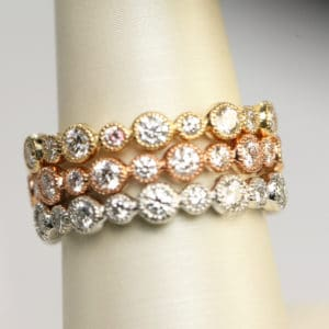 Diamond Eternity Band in Rose, Yellow or White Gold