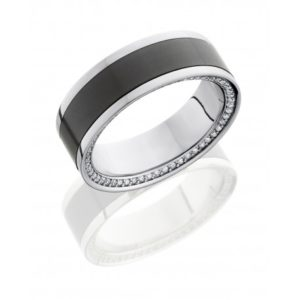 Elysium Polished Diamond Set Wedding Band