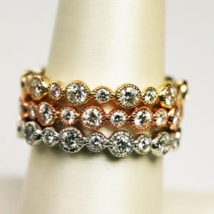 Diamond Eternity Band in Rose, Yellow or White Gol...