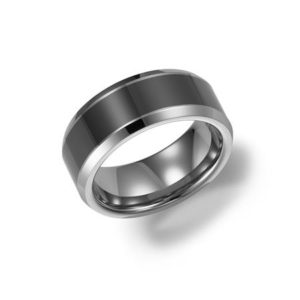 8mm Tungsten and Ceramic Band