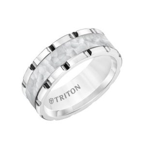 8mm Link Style Tungsten Band