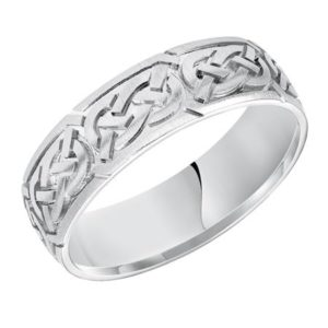 7 mm White Gold Celtic Knot Wedding Ring