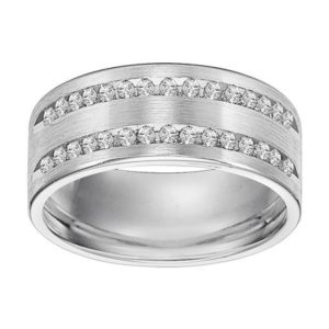 7.5 mm double channel eternity band