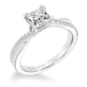 """Tate"" Diamond Twisted Shank Engagement Ring"