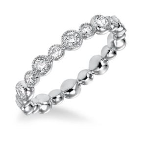 Bezel Set Eternity Band 0.90 ctw