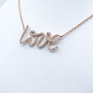 "14k Diamond ""Love"" Pendant"