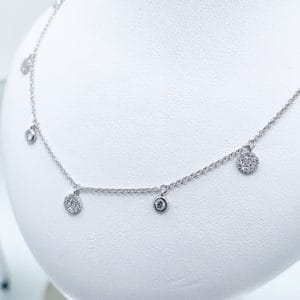 Dainty Diamond Dangle necklace