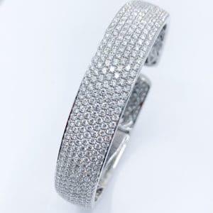 11.88 ctw Pave Diamond Cuff Bracelet