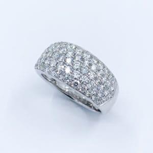 1.83 carat pave diamond band